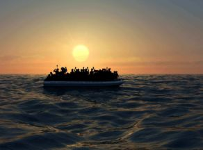 A Flimsy Raft in the Mediterranean? with the crew of the LÉ Samuel Beckett