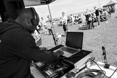 <p><strong>Wally Nkikita DJ'ing</strong><br />Salthill, Galway 2019</p>