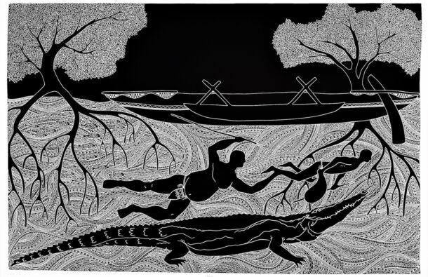 <p>Vinylcut relief print</p> <p>65 x 100 cm</p>  <p>Nominated by Print Council of Australia</p>