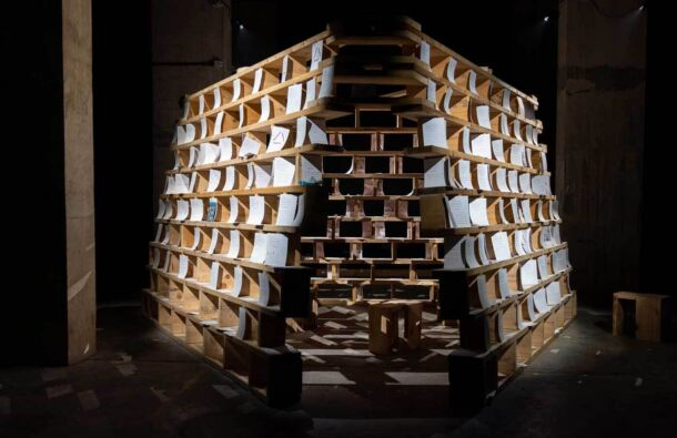 <p>The <em>House of Memory</em> installation invites the public to share their personal experience of loss and grief during the pandemic.</p>