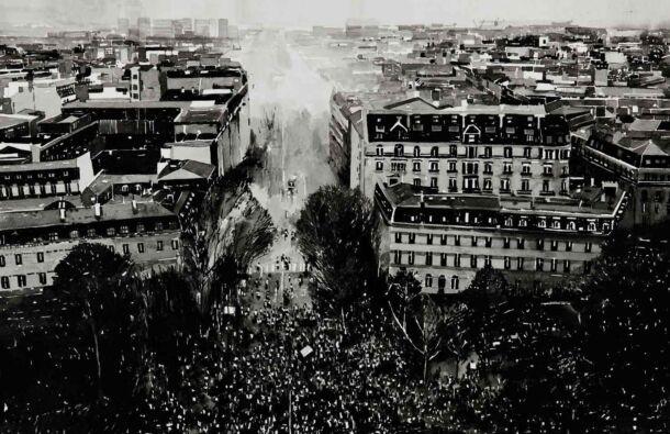 <p><em>Protest Crowd, (Gilet Jaune Protest, Paris, December 2018) 2020</em>. Ink on paper. Dimensions 65 x 50cm ( Photography. Ros Kavanagh)</p>