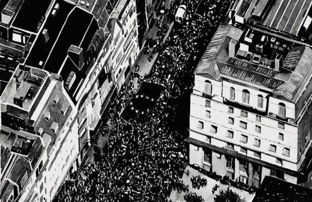 <p>Protest Crowd. No Brexit ( London, June 2018) Ink on paper. 40cm x 58 cm (2019)</p>