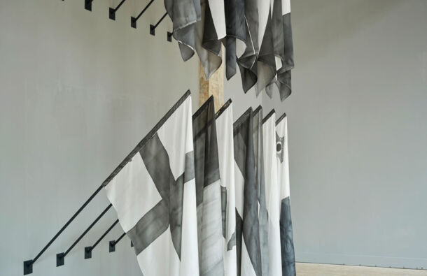 <p>Installation view and detail of Dark Europe.</p>