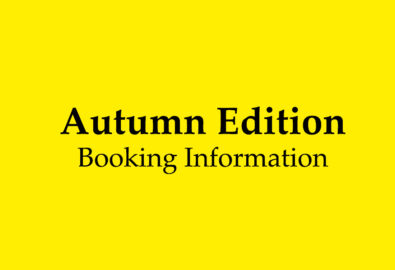 Autumn Edition Booking Information & Your Safety